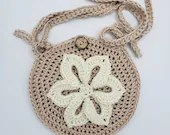 Crochet Flower Crossbody Bag