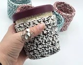 PDF Pattern for Cotton Ice Cream Cozy - fits most pint-size ice cream containers