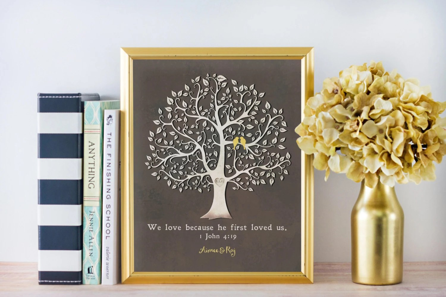 Christian Wedding Gift We Love Because He First Loved Us