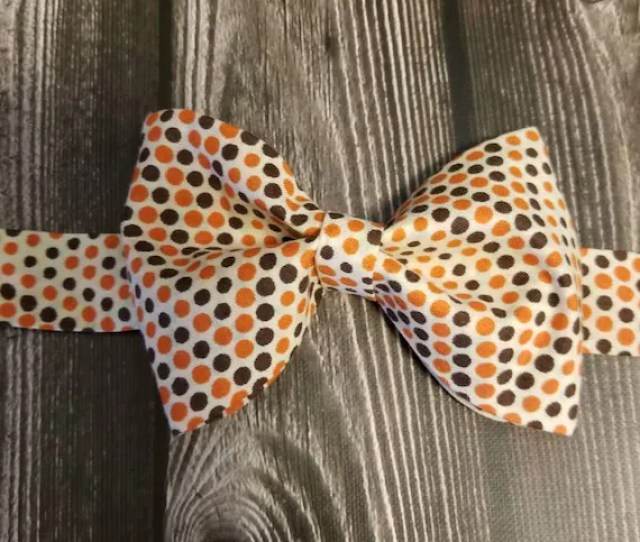 Bow Tie Fall Accessories Kid Bow Ties Polkadots Thanksgiving Bow Tie