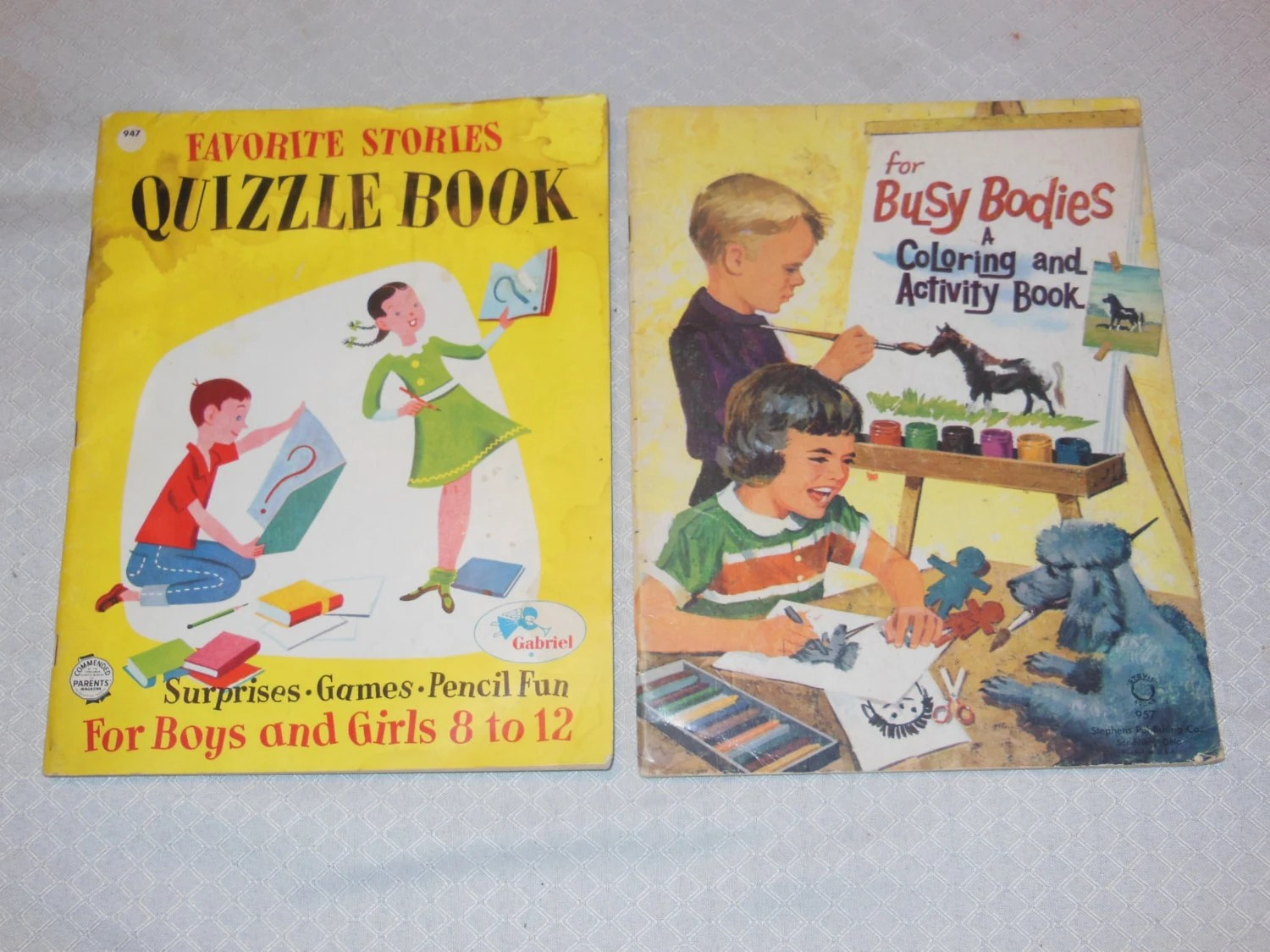 2 X Vintage Softcover Children S Coloring Activity Books
