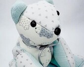 SMALL Memory Bear, custom memory bear, teddy bear, clothing bear, baby gift, personalized bear, bereavement gift, keepsake bear