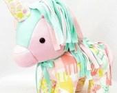 FULL TERM Memory Unicorn, actual birth height weight, horse, clothing unicorn, baby gift, personalized unicorn, bereavement gift, keepsake