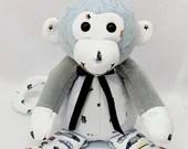 PREEMIE Memory Monkey, keepsake monkey, plush monkey, newborn gift, bereavement gift, memory monkey, memory monkey