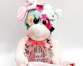 FULL TERM Memory Bear, Actual birth height, actual birth weight, Weighted memory bear, newborn gift, bereavement gift