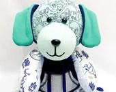 PREEMIE Memory Puppy Dog, Actual birth height, actual birth weight, Weighted memory dog, micro preemie gift, bereavement gift, micro preemie
