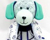 SMALL Memory Puppy Dog, keepsake dog, plush puppy, newborn gift, bereavement gift, memory dog, memory puppy, weighted dog, weighted puppy