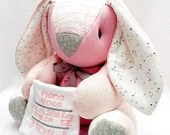 FULL TERM Memory Bunny, actual birth height weight, horse, clothing bunny, baby gift, personalized bunny, bereavement gift, micro preemie
