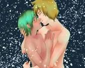 """Poster """"Glow Kiss"""""""