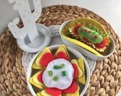 Taco Nachos Set, Mexican Felt Play Food, Pretend Food, Children's Gift, Perfect for Play Kitchen!