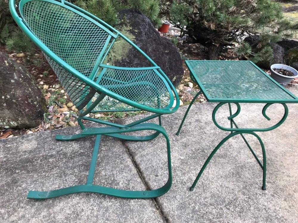 mid century modern wrough iron patio salterini chairs etsy