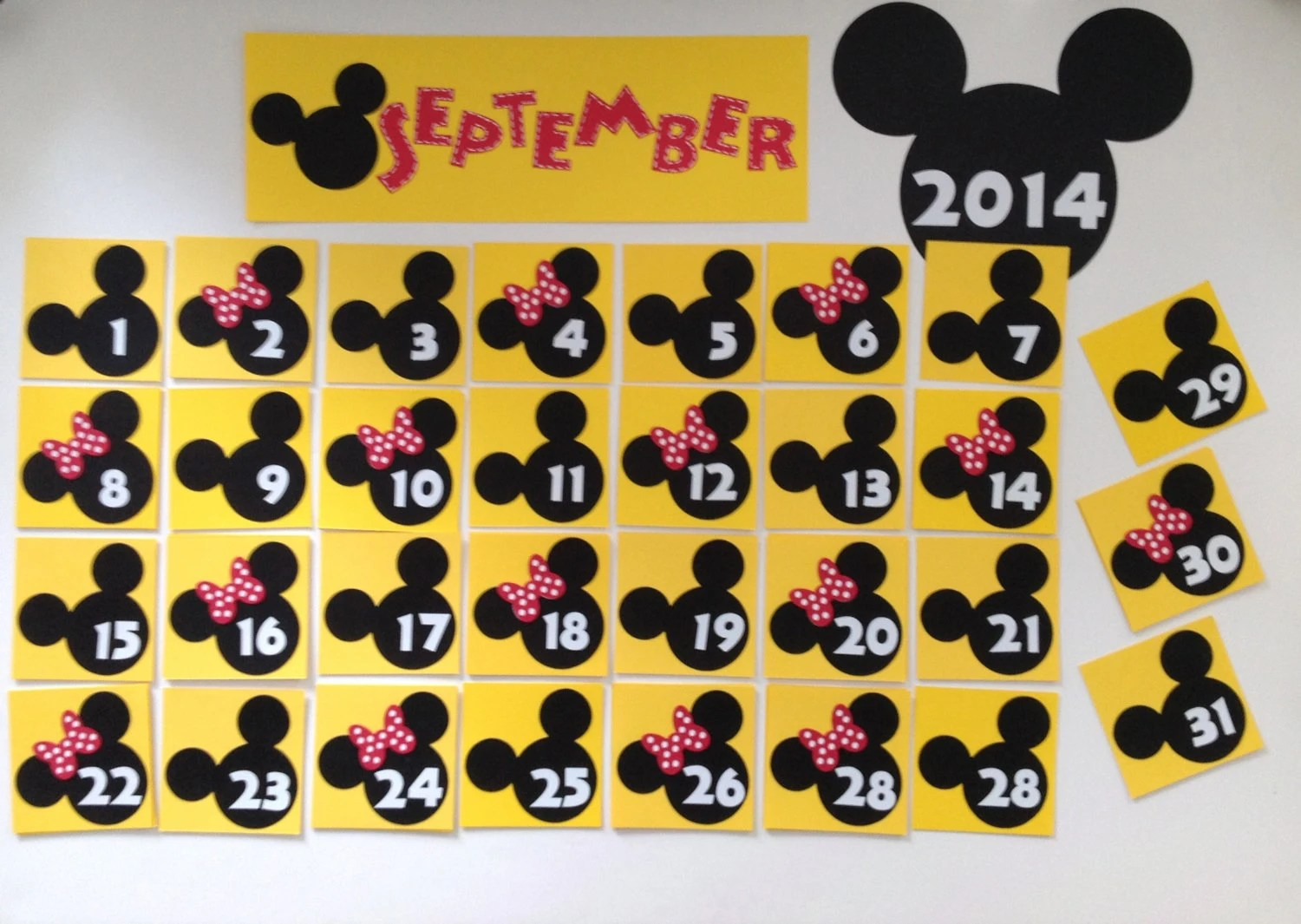 Kindergarten Preschool Disney Calendar Only