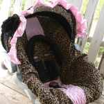Baby Infant Car Seat Cover Hood Cover Pink Leopard Cheetah Minky And Black Car Seat Accessories Baby