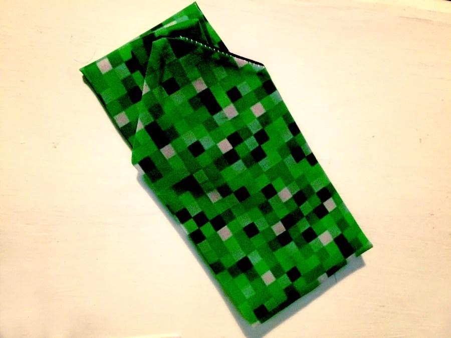 Green 8-bit green video game Necktie