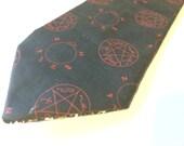 Supernatural necktie, angel and demon necktie