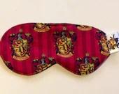 Gryffindor Sleep Mask, Harry Potter Sleep Mask, Harry Potter Eyemask