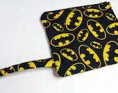 Batman Zippered Pouch, DC Comics Zipper Pouch, Makeup Bag