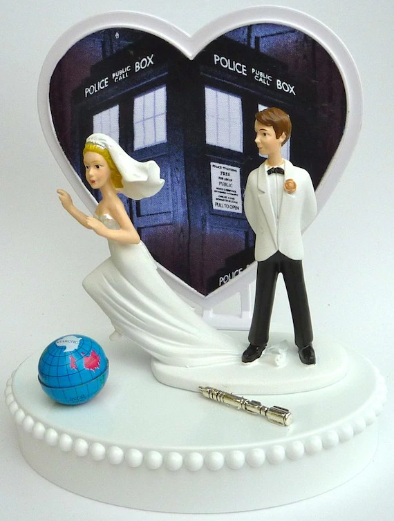 Wedding Cake Topper Doctor Who Runaway Bride Themed Dr  Who   Etsy image 0