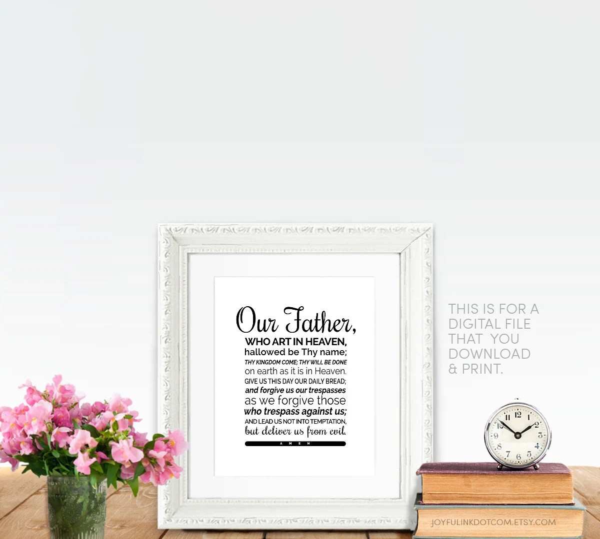 Our Father Prayer Scripture Printable Lords Prayer Art