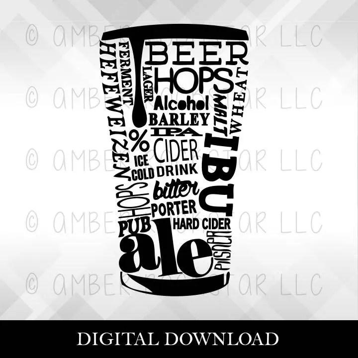 Download SVG Digital Download -Beer Word Pint SVG   Beer Word Pint ...