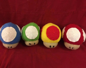 Mario Mushroom Plushies...