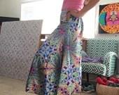 Wide leg flowing pants