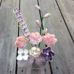 Seashell Wild Flower Bouquet In Vase With Sand Short Etsy