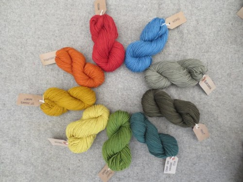 Bluefaced Leicester DK weight wool plant dyed 50g skeins image 0