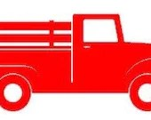 Red Truck Vinyl Decal | Multiple Sizes Available