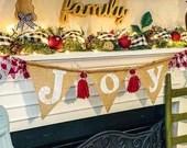 Joy Burlap Banner Garland