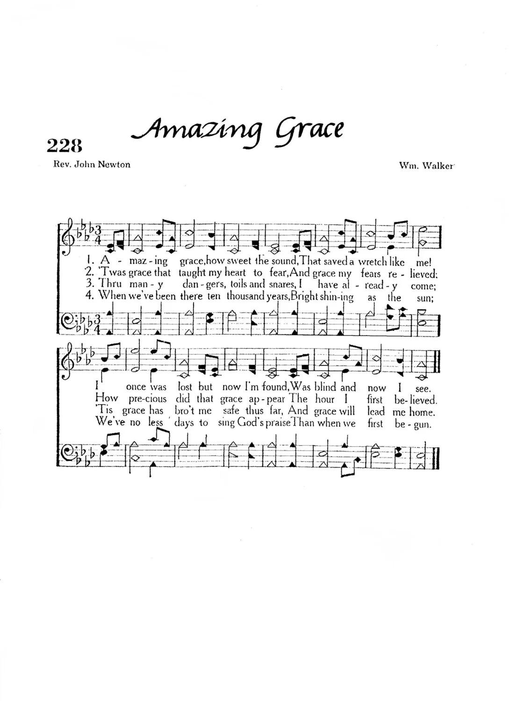Amazing Grace Christian Hymn Digital Sheet Music Home