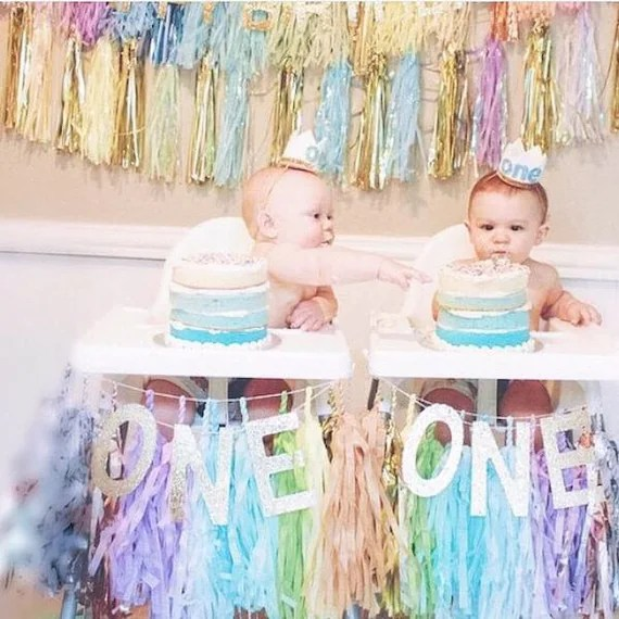 First Birthday High Chair Tassels by GlamFeteByBri
