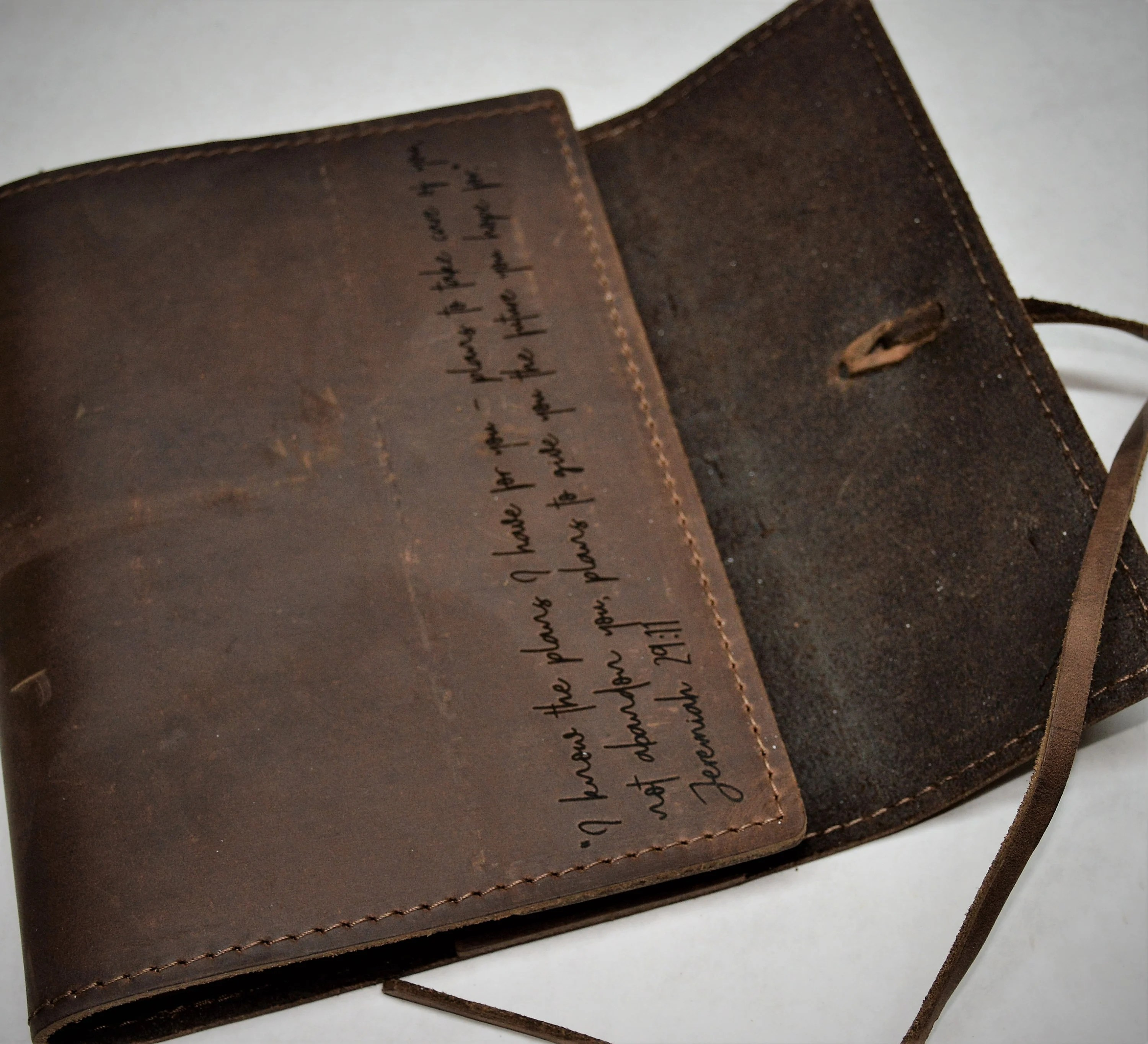 Refillable Writer's Log large Journal Leather Journal image 9