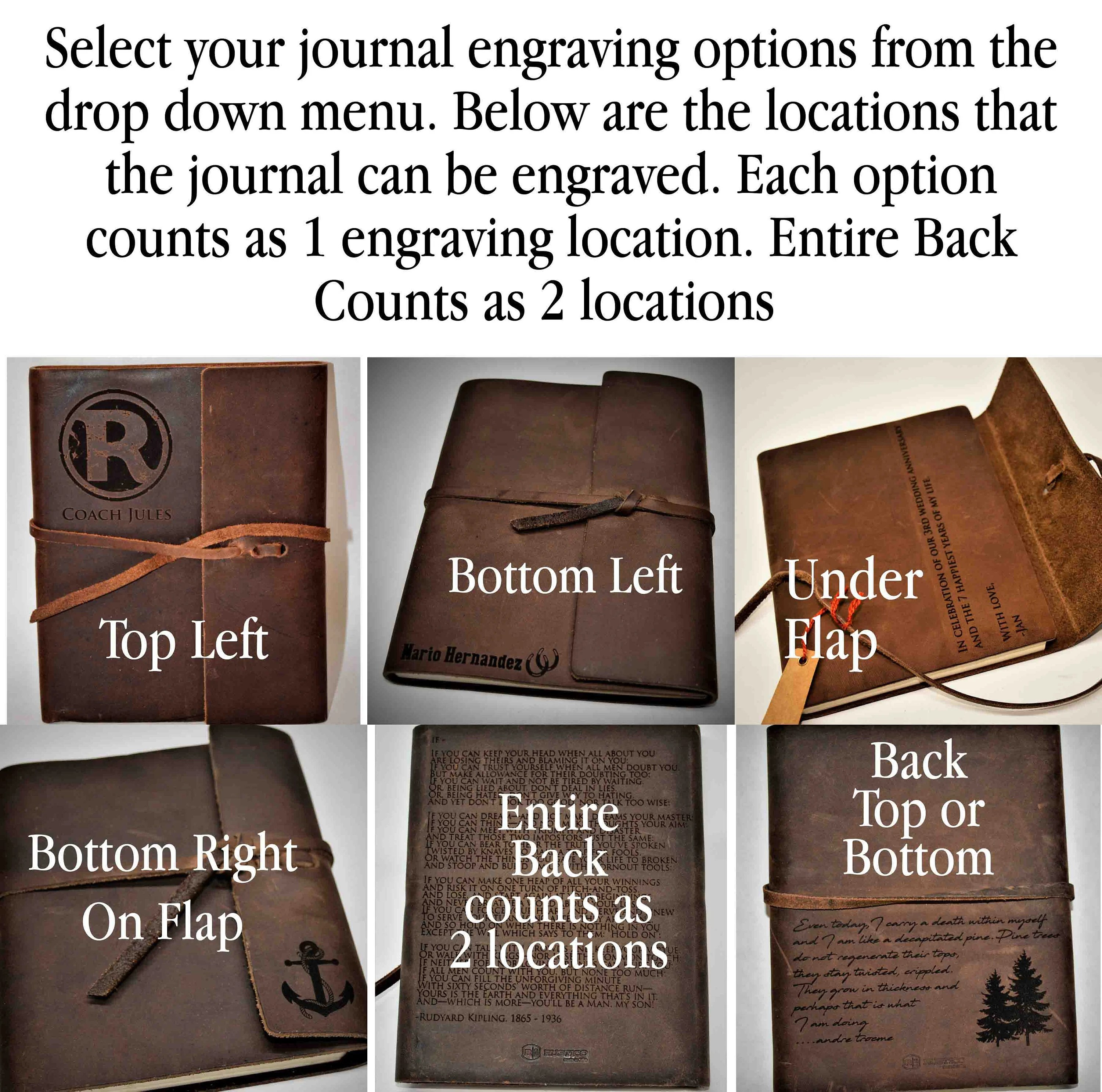 Refillable Writer's Log large Journal Leather Journal image 4