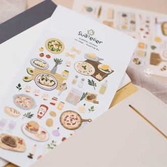 Food Trip 1 stickers/scrapbooking/planner sticker/card image 1