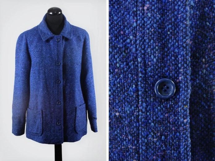 1960s Boxy Flecked Blue W...