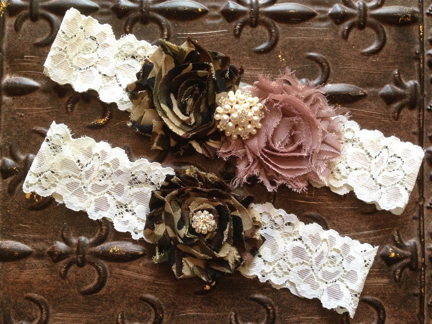 Camo Wedding Garter Set Camo Wedding Garter Camo Taupe