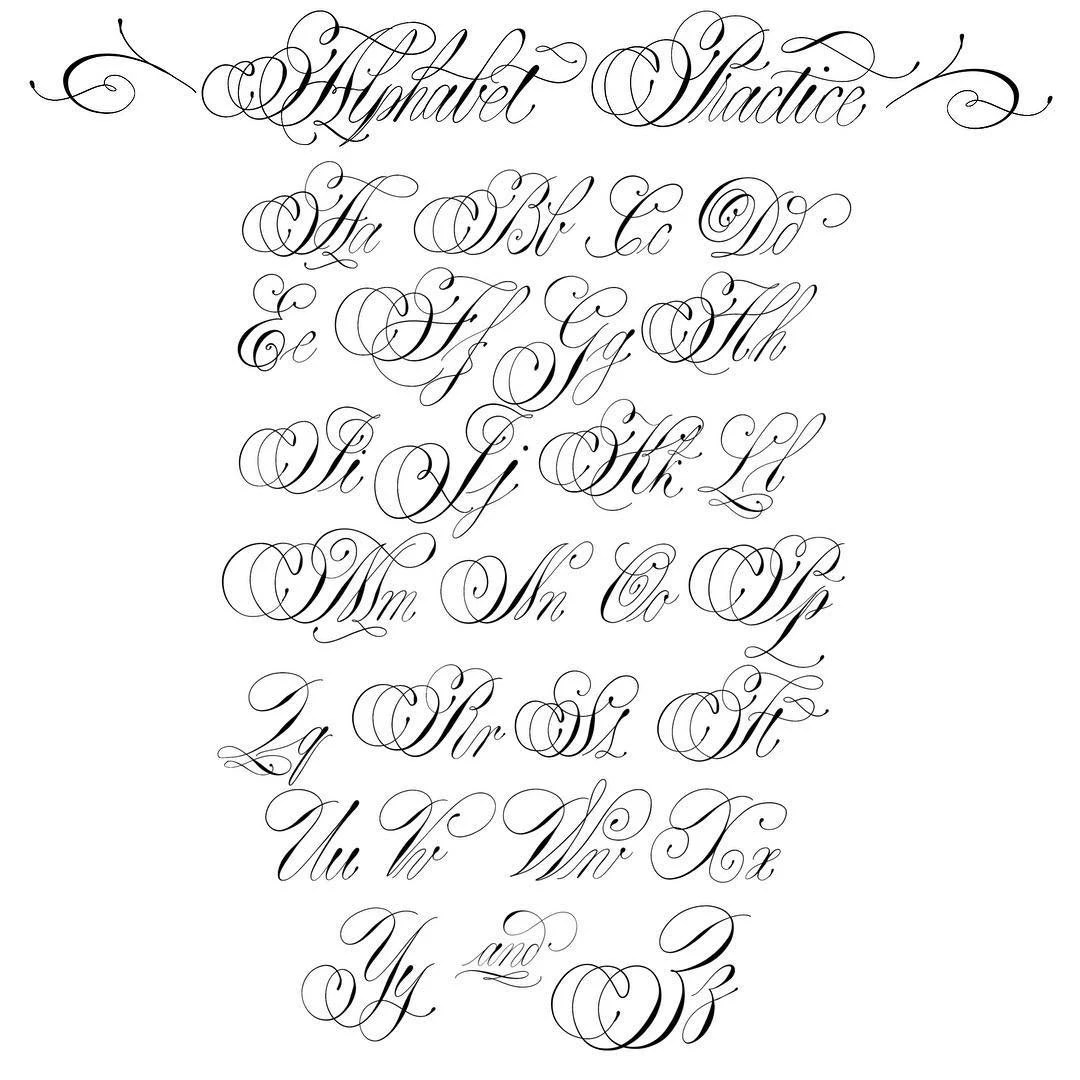 Calligraphy Font Download Practice Sheets Italic Hand