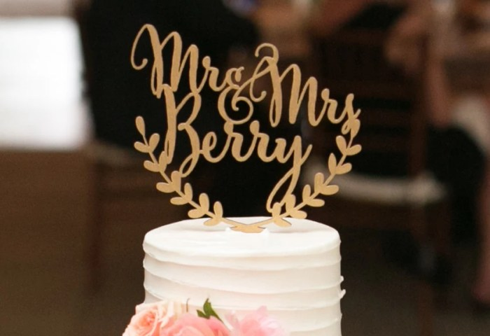 Custom Wedding Cake Topper Personalized Cake Topper Rustic Etsy