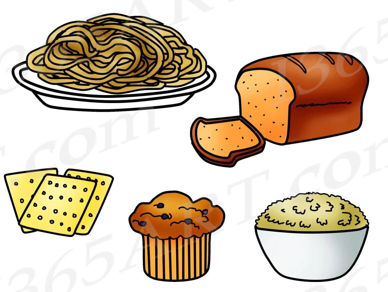 Grains Clipart Grains Clip Art Food Groups Fiber Bread