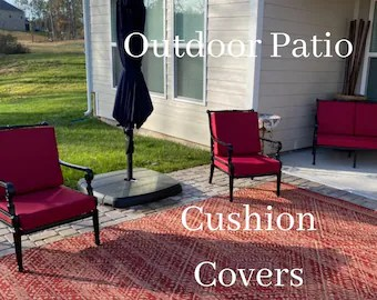 outdoor cushion covers etsy