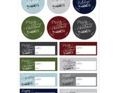 Offensive Gift Labels / Merry Fucking Christmas Gift Tags / Happy Fucking Holidays Stickers / Adult Gift Label