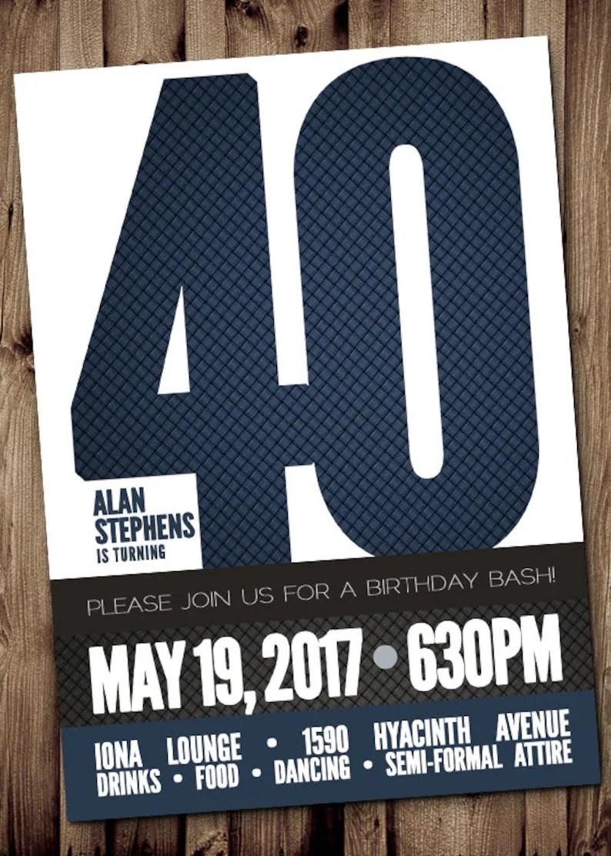 Inviti Compleanno 40 Anni Uomo Powermall
