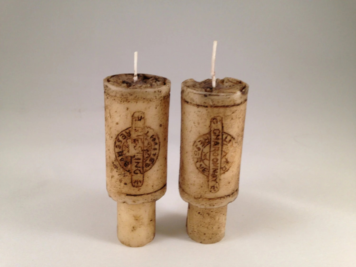 Set Of 2 Merlot Scented Wine Cork Candles For Wine Bottle