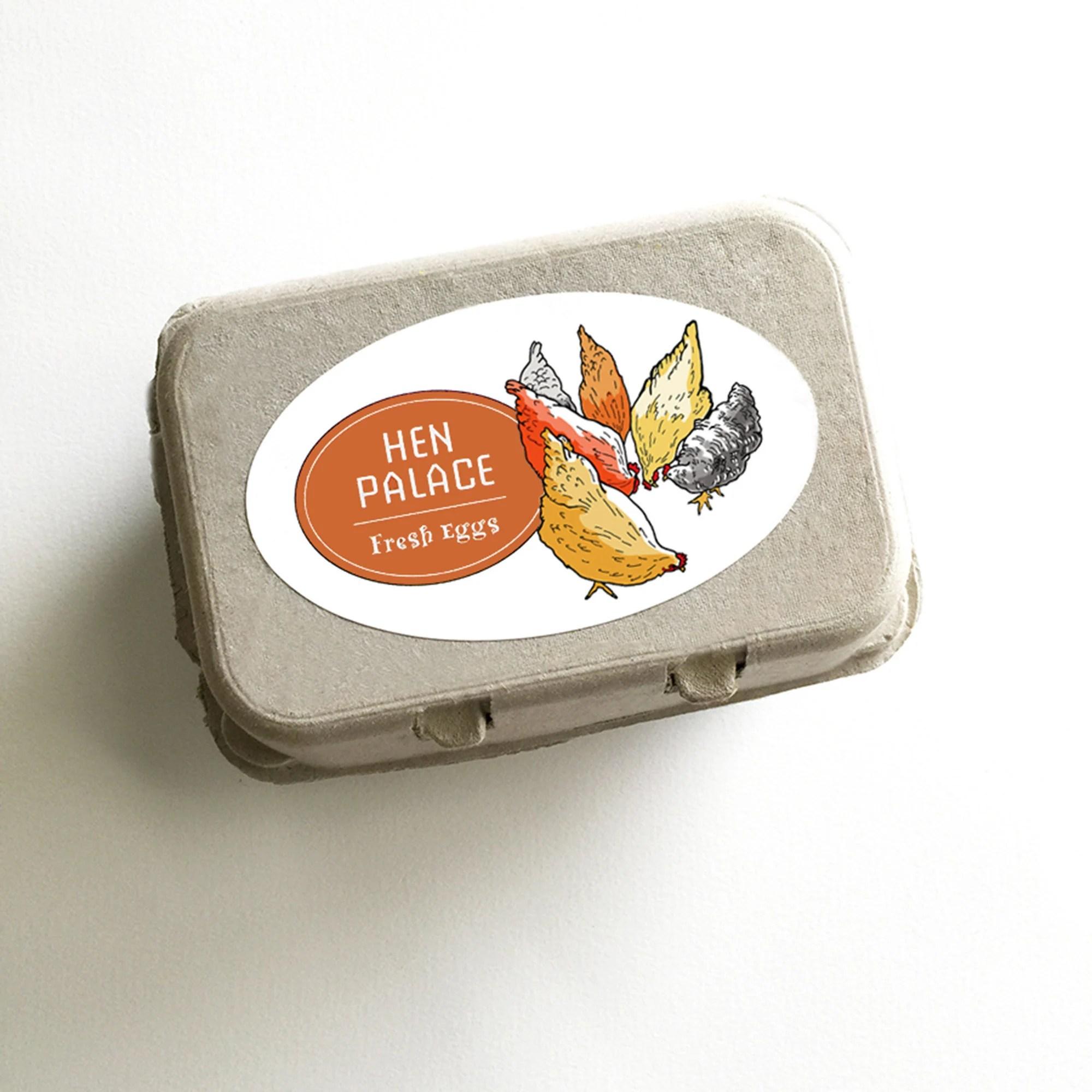 Chicken Egg Labels Personalized Egg Sticker Farm Market