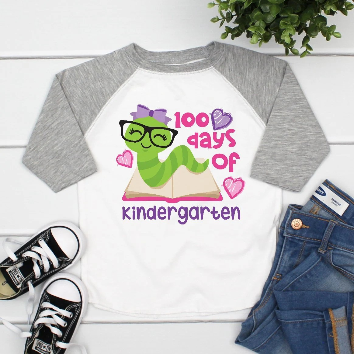 100 Days Of Kindergarten 100th Day Of School Shirt For