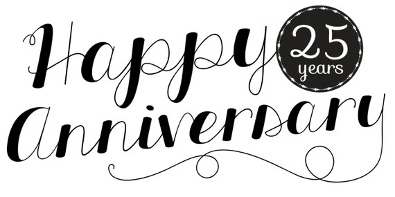 Happy 25th Anniversary Banner Etsy