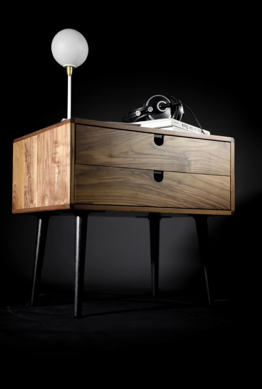 Mid Century Scandinavian Side Table Entry Table Dresser