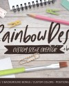 Rainbow Desk Custom Scene Creator Styled Desk Custom Scene Etsy
