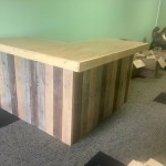 Maggie Desert Sand Smooth Top L Shaped 7 X 4 5 Shabby Chic Rustic Barn Wood Style Pallet Style Bar